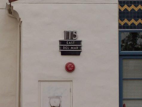 115 E Del Mar Blvd sign