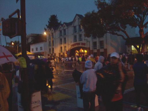 Pasadena Marathon runners waiting back of line