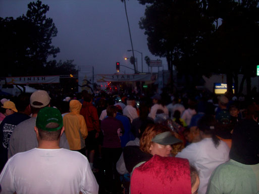 Pasadena 5K Race waiting to start