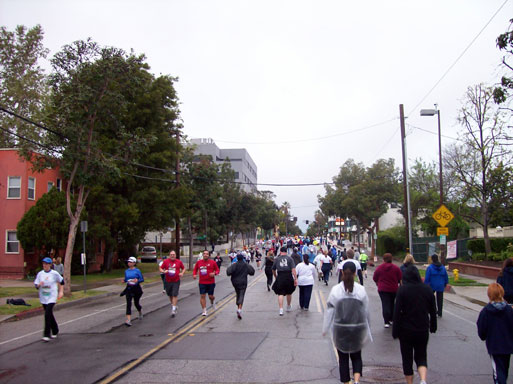 Pasadena Marathon 5K fun run along Del Mar Blvd