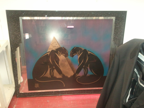 salvation army antique store painting 1