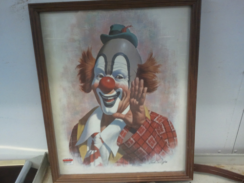 scary painting of clown