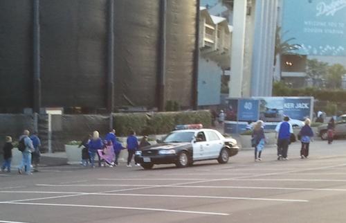 police car dodger parking lot