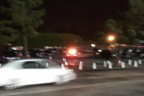 dodger stadium parking lot after game