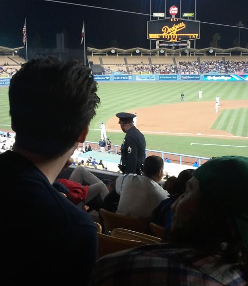 police officer in dodger stadium