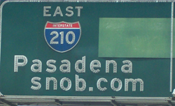 pasadena freeway sign